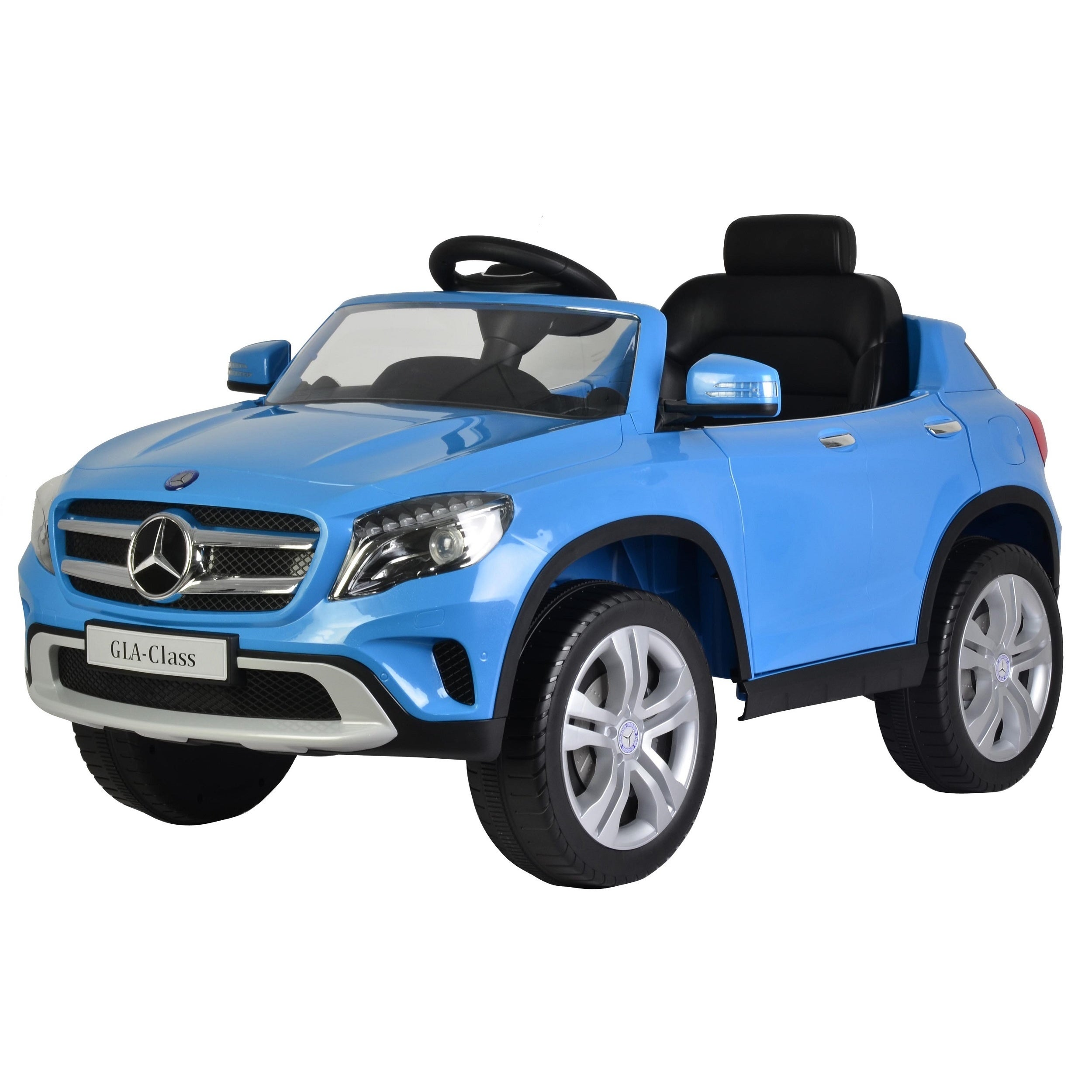 Children's Blue Mercedes GLA 12V Ride-on Car (Blue)