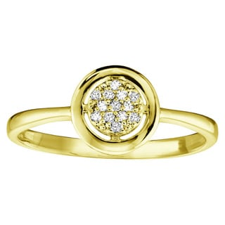 10k Gold Diamond Accent Promise Ring (Size 6.5)
