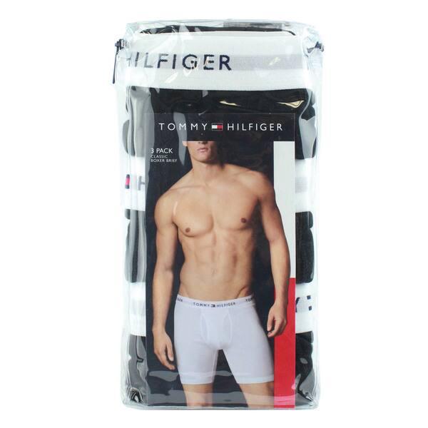 1e8d9c07 Tommy Hilfiger Men's 100-percent Cotton Classic Black Boxer Briefs (Pack of  3)