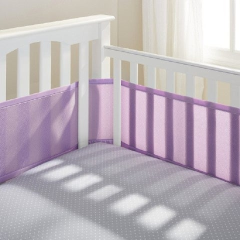 Breathable Baby Lavender Polyester Breathable Mesh Crib Liner