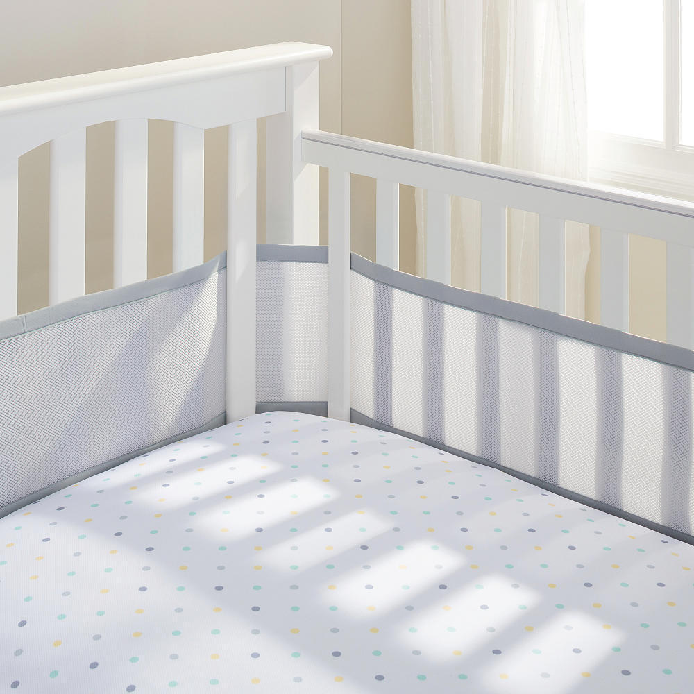 BreathableBaby Grey Breathable Mesh Crib Liner (Grey)