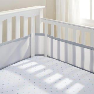 Breathable Baby Grey Breathable Mesh Crib Liner
