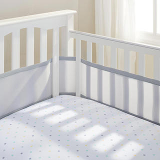 Breathable Baby Grey Breathable Mesh Crib Liner