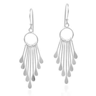 Sticks Rods Chandelier Tassel Style 925 Silver Earrings (Thailand)