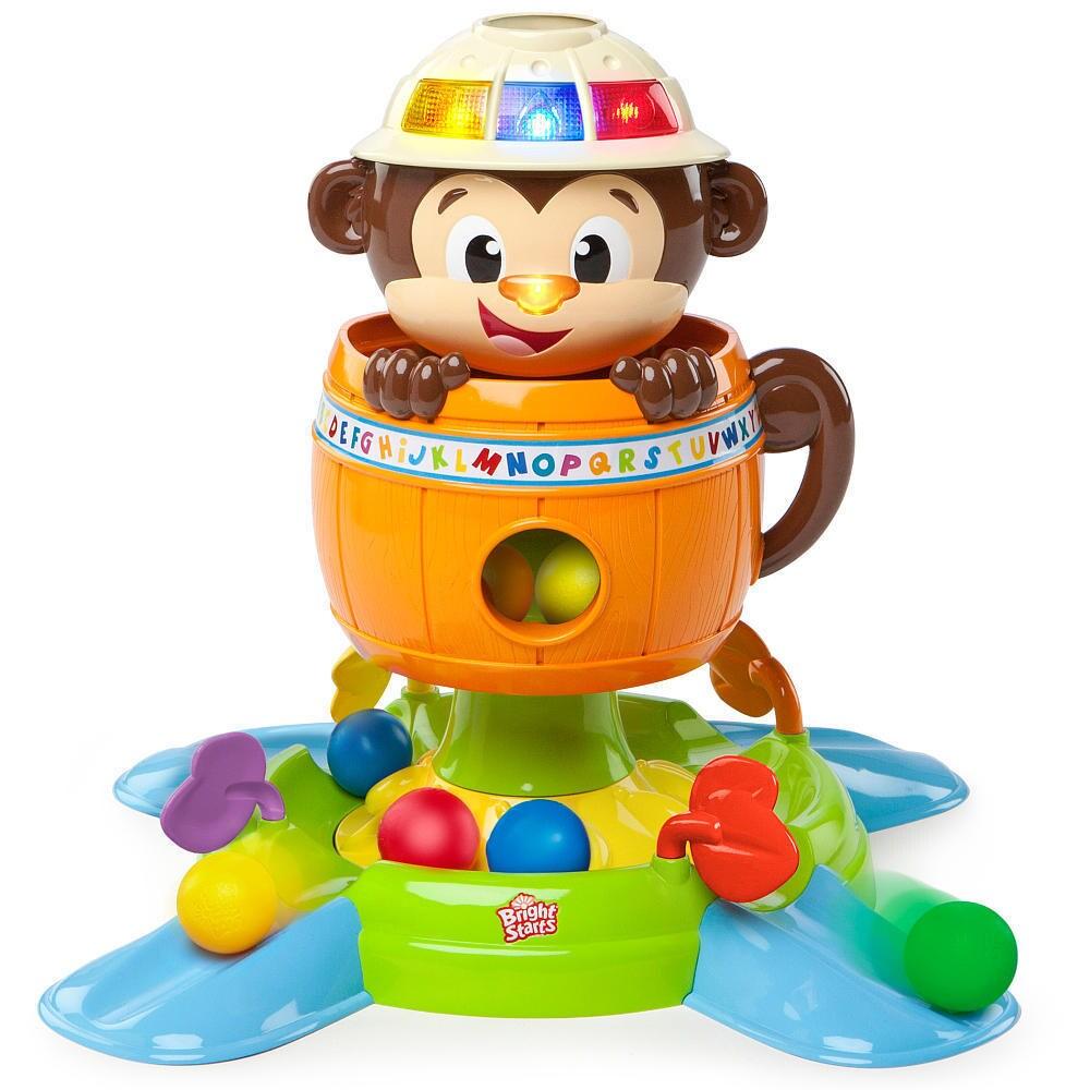Bright Starts Having A Ball Hide 'n Spin Monkey Toy (6 Po...