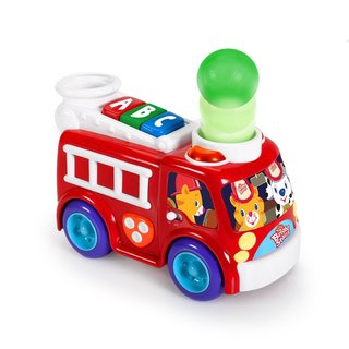 Bright Starts Having a Ball Roll and Pop Fire Truck Toy