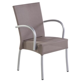Hans Andersen Dale Taupe Aluminum, Fabric Outdoor Arm Chair