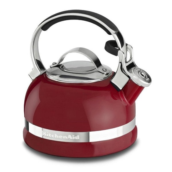 kitchenaid 4 1 2 quot red stainless steel shop kitchenaid empire red stainless steel 2 quart kettle free shipping today overstock com 6586