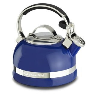 KitchenAid KTEN20SBDB Doulton Blue Porcelain 2.0-quart Kettle With Full Stainless Steel Handle and Trim Band
