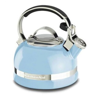 KitchenAid Cameo Blue 2-quart Full Stainless Steel Handle and Trim Band Kettle