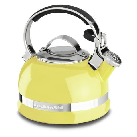 KitchenAid KTEN20SBIS Citrus Sunrise 2-quart Kettle with Full Stainless Steel Handle and Trim Band