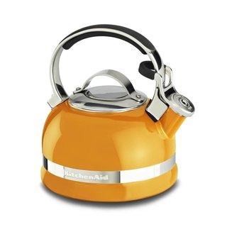 KitchenAid KTEN20SBDO Mandarin Orange 2.0-quart Kettle With Full Stainless Steel Handle and Trim Band