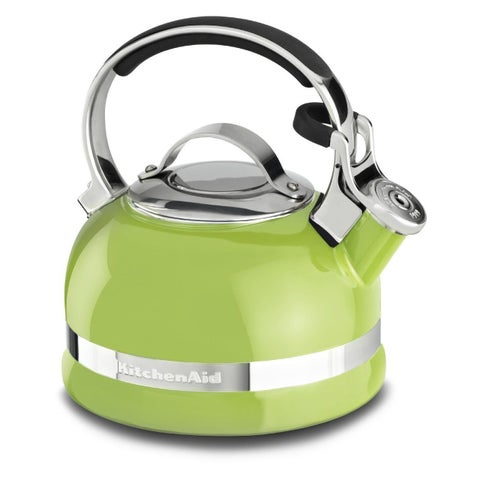 KitchenAid KTEN20SBKL Sunkissed-lime 2.0-quart Kettle with Full Stainless-steel Handle and Trim Band
