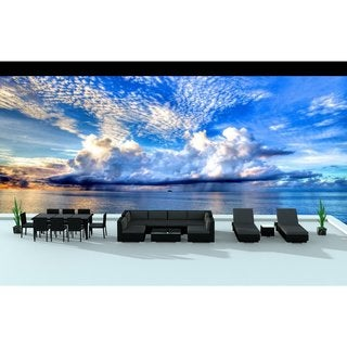 Urban Furnishing Black Series 19-piece Outdoor Dining and Sofa Sectional Patio Furniture Set