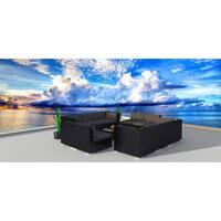 Urban Furnishing Black Series 11a Wicker Rattan Patio Furniture Set