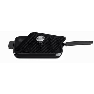 KitchenAid KCI10GPOB Onyx Black Cast Iron Grill and Panini Press Cookware