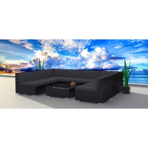 Urban Furnishing Black Series Wicker/Rattan Patio Furniture Set