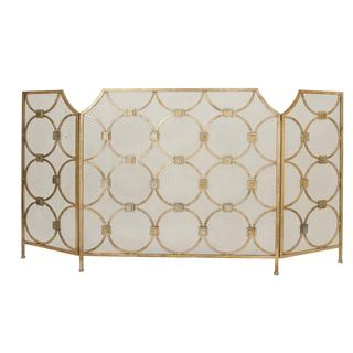 Metal 63-inch x 34-inch 3-panel Fireplace Screen