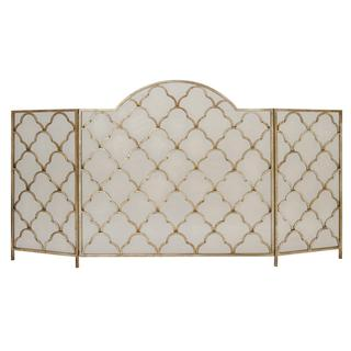 Sturdy Gold Metal Fireplace Screen
