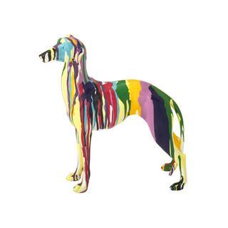 Multicolored Stone 12-inch x 3-inch x 12-inch Dog Figurine