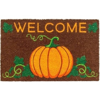 Welcome Pumpkin Non-slip Coir Doormat