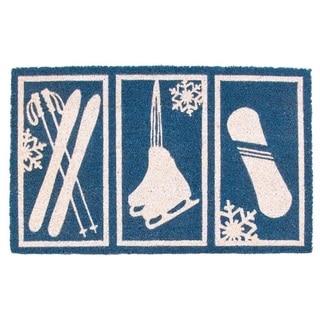 Snow Sports Nonslip Coir Doormat