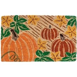 Pumpkin Patch Coir Hand-woven Doormat
