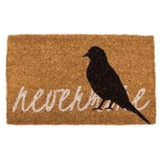 Brown Coir 18-inch x 30-inch Hand-woven Raven Doormat