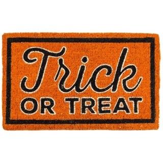 Trick or Treat Hand-woven Coir Doormat