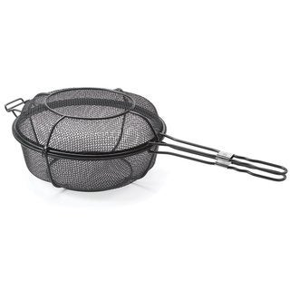 Outset Dual Metal Mesh 11.75-inch Grill Basket and Skillet