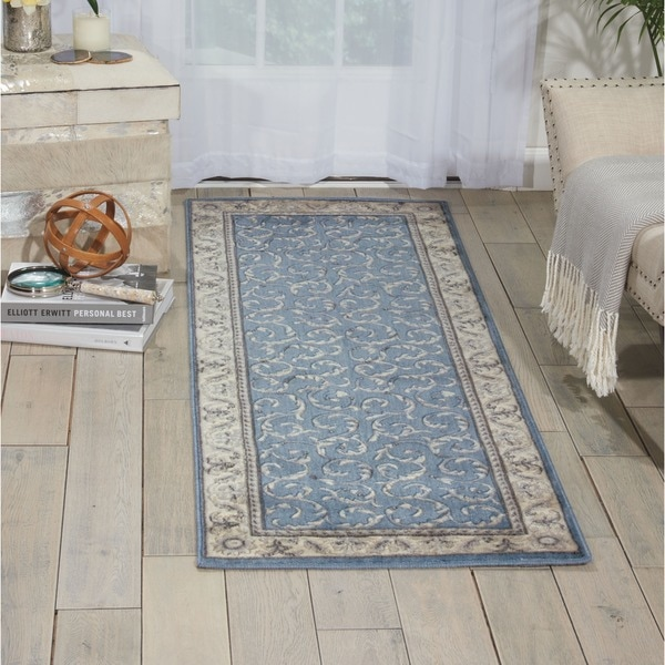 Nourison Somerset Light Blue Rug (2'3 x 8') - 2'3 x 8'