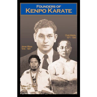I&I Sports Japanese Okinawa Kenpo Karate Founders Martial Arts Display Wall Plaque (11 inch x 17 inch)