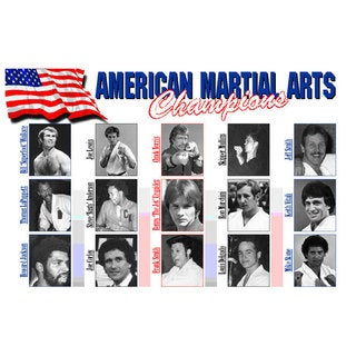 I&I Sports 15 American Martial Arts Champions from 1960s/1970s/1980s 11-inch x 17-inch Display Wall Plaque