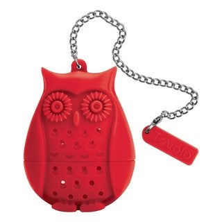 Tovolo Red Plastic Owl Tea Infuser