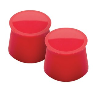 Tovolo Candy Apple Red Plastic Wine Cap (Set of 2)