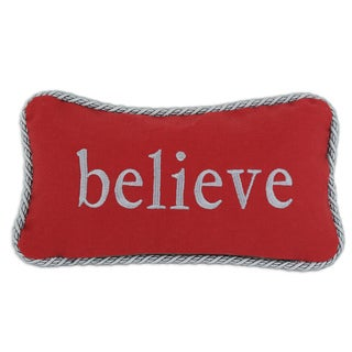 Nile Poppy Believe Self-backed Pewter-trimmed 6-inch x 14-inch Throw Pillow