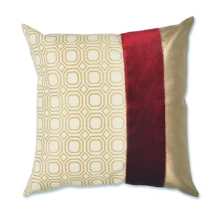 Milo Red/Gold 19-inch x 19-inch Throw Pillow