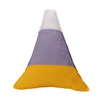 Pastel Candy Corn Multicolor Cotton/Polyester 17-inch x 17-inch KE Throw Pillow