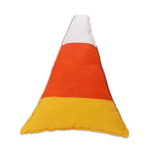 Candy Corn 17-inch x 17-inch Throw Pillow