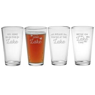 Lake Talk Pint Glass (Set of 4)