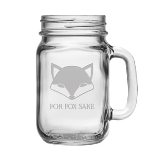 For Fox Sake Drinking Jars (Set of 4)