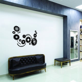 Style and Apply Cogwheels Vinyl Wall Decal