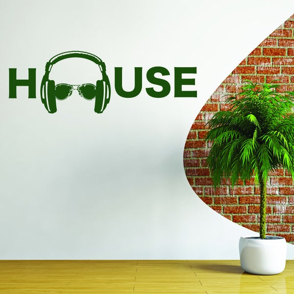 Shop Style And Apply House Music Vinyl Wall Art Decal Free Shipping On Orders Over 45
