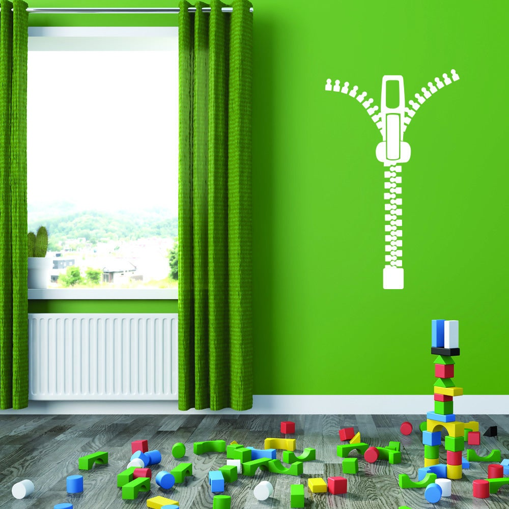 Style and Apply Multicolored Vinyl Zipper Removable Wall ...