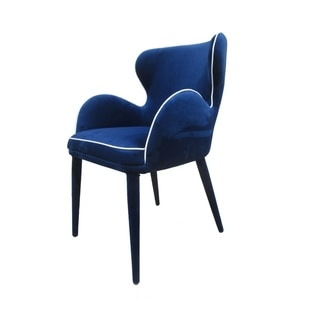 Modrest Tigard Blue Fabric Dining Chair