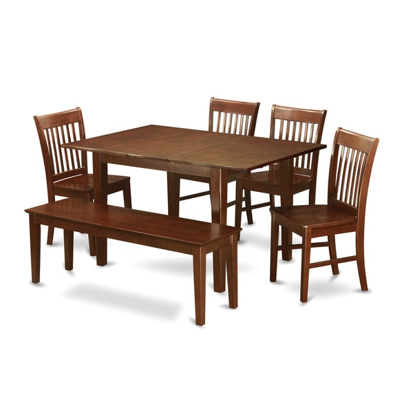 Psno6c Mah 4 Chair And Dining Bench 6 Piece Dining Table Set Free Shipping Today Overstock