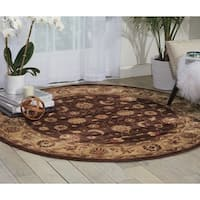 Nourison Somerset Brown Rug (5'6 Round)