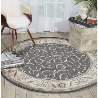 Nourison Somerset Charcoal Rug (5'6 Round)