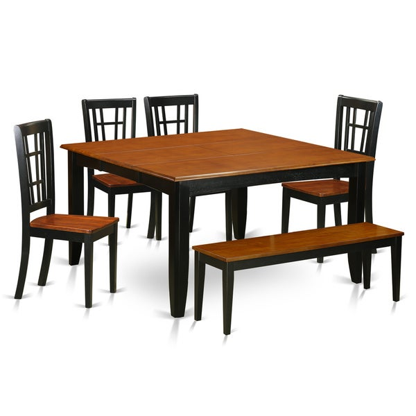 Shop PFNI6-BCH Solid Wood 4-chair And Dining Bench 6-piece