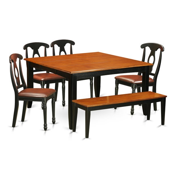 Shop PFKE6-BCH Solid Wood 4-chair And Dining Bench 6-piece